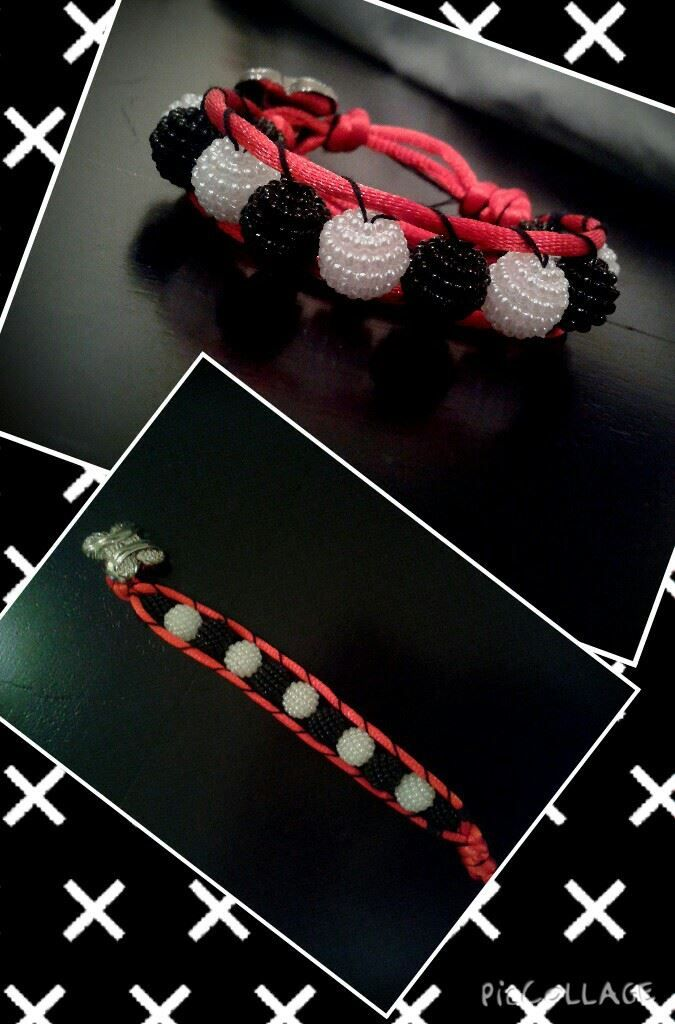 Handmade bracelet You can customize it yourself by choosing your own colors and design, and names they are for sale contact me on my email if interested: sarabudeir@yahoo.com