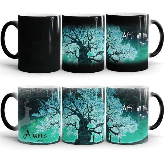Harry Potter Always Color Changing Mug, After all this time? Always - Harry potter quote mug, Severus Snape Tribute, Heat Changing Morphing Mug  -A
