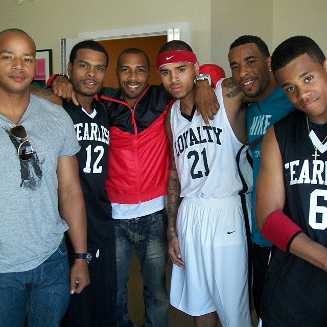 My Husbands Chris Brown Benny Boom Omari Hardwick And His Brother