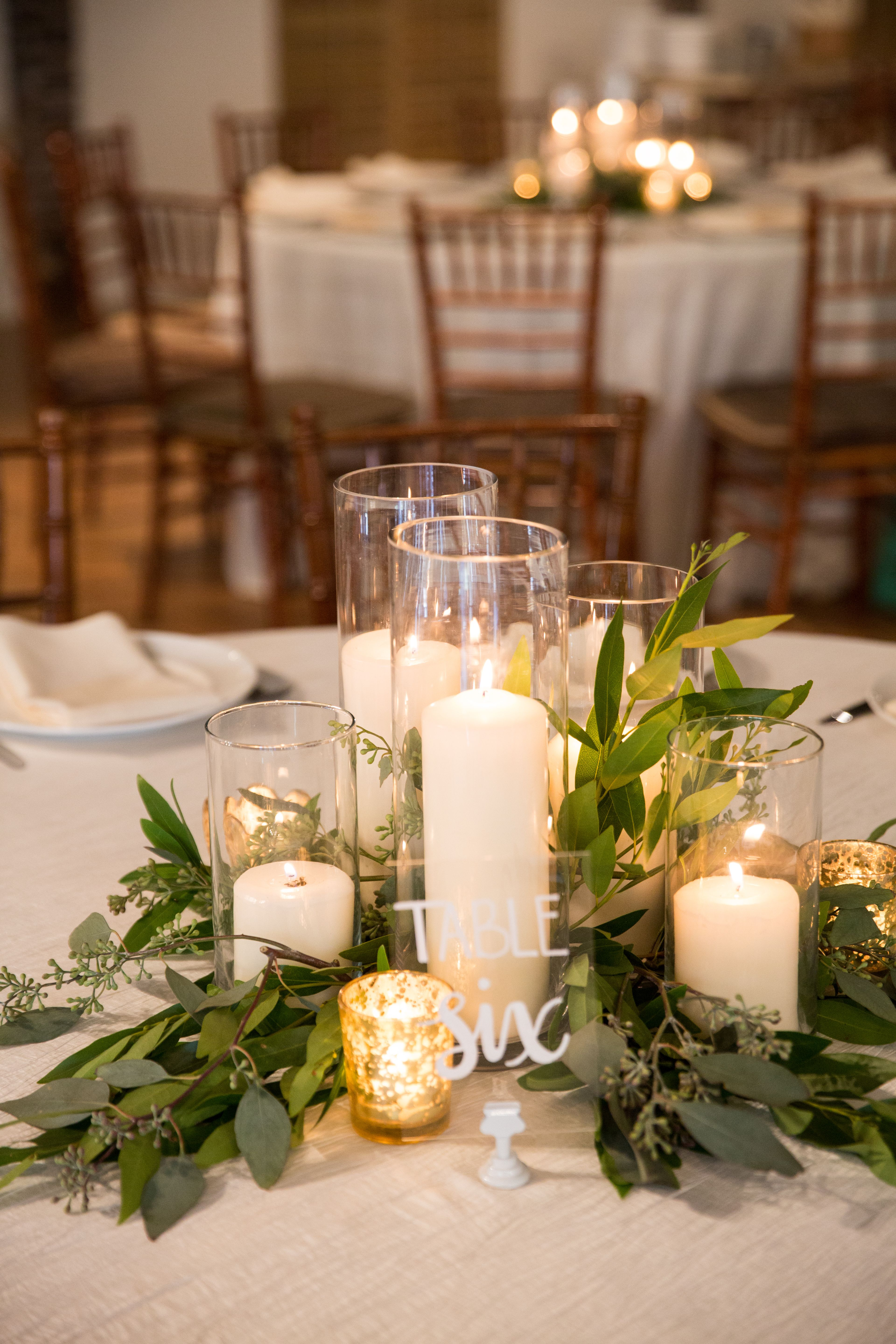 Charming Table Decor At Cannon Green In Charleston S C Photo Chelsea Paige Photography Candle Wedding Centerpieces Wedding Centerpieces Wedding Table