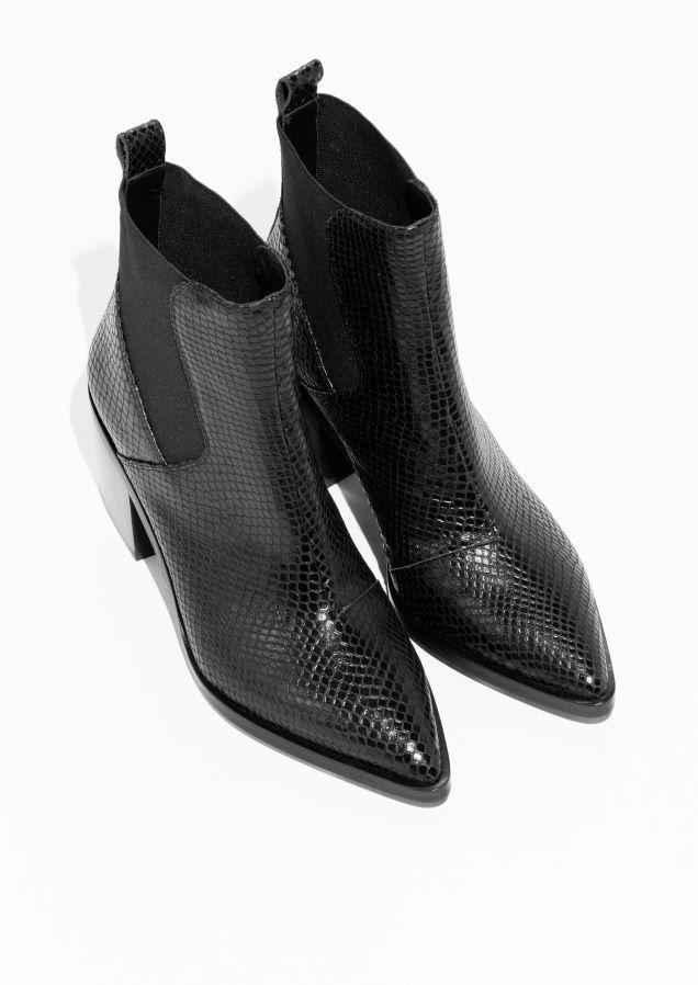 c4b4354ccdd8 Noël ·   Other Stories image 2 of Croco Chelsea Leather Boots in Black