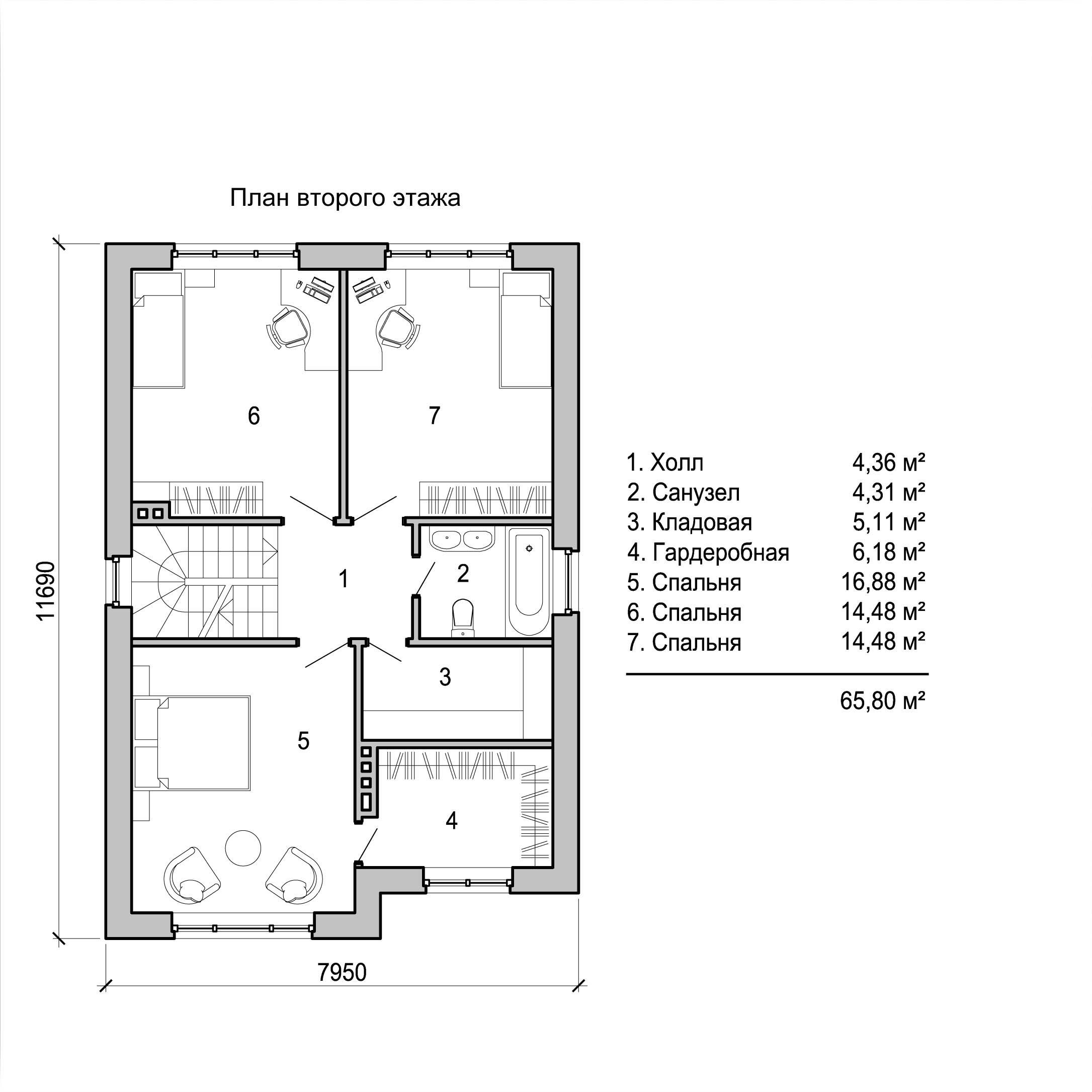 схема и картинки дома двухэт пять комнат это, наверное, одна