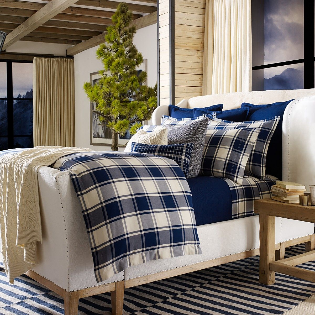 Ralph lauren plaid bedding - There S Nothing Like Charming Seasonal Prints To Help You And The Hubby Get Settled Into Your New Home Add The Ralph Lauren Winter Harbour Bedding