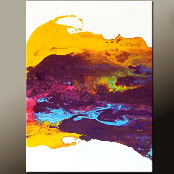Abstract Canvas Art Painting 18x24 Contemporary Original Wall ...