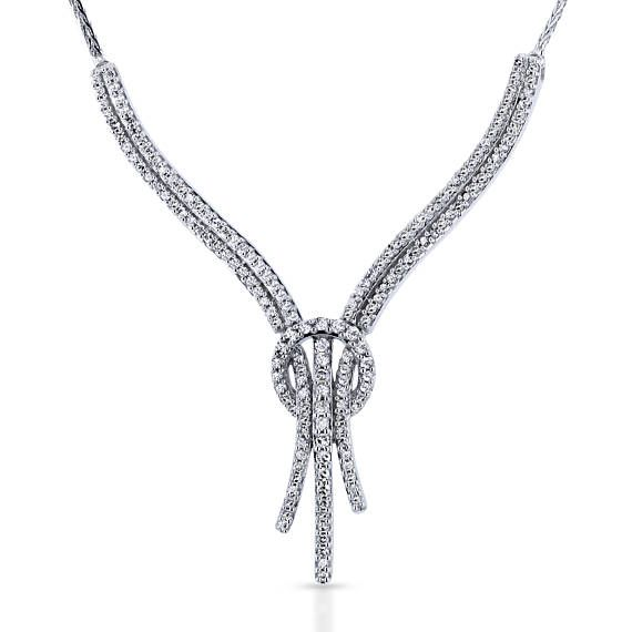 Diamond Open Loop Knot Stringy Flat Wheat Chain Anti