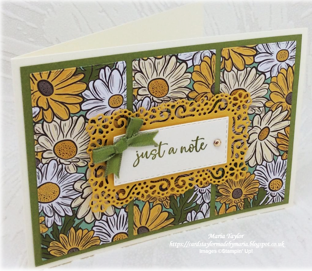 Cards Taylor Made by Maria: Just a Note - Ornate Garden Suite!