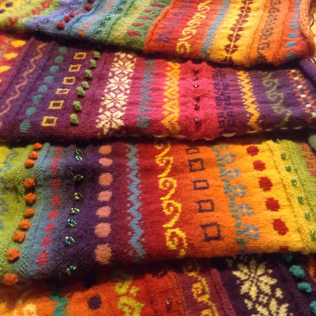 One Of My Students First Fair Isle Knitting Using