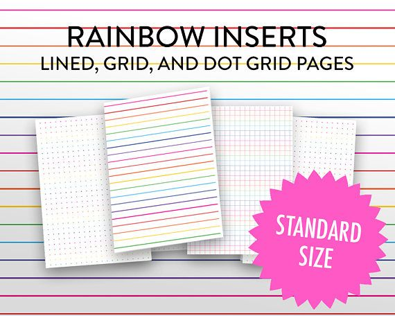 photograph about Midori Insert Printable identify Midori Include Printable Rainbow Grid, Dot Grid, Protected Incorporate