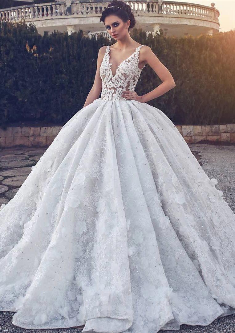 glamorous ball gown wedding dresses 2018