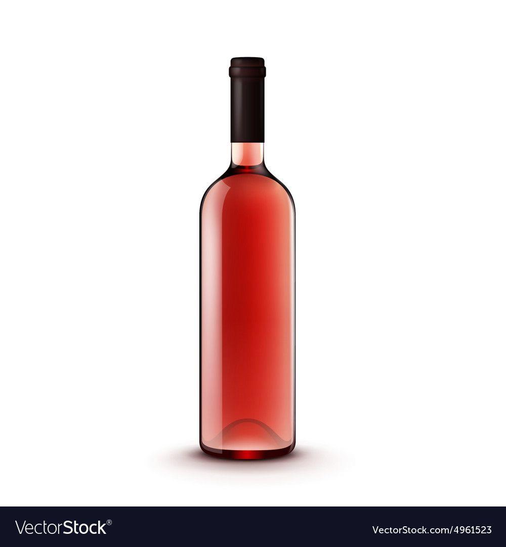 Glass Wine Bottle Vector Image On Vectorstock Wine Bottle Wine Bottle Illustration Bottle