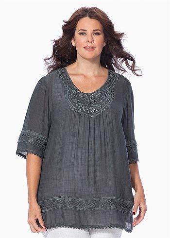 9bfee018e7e Avita tunic | Fashion/Style | Plus size womens clothing, Fashion ...