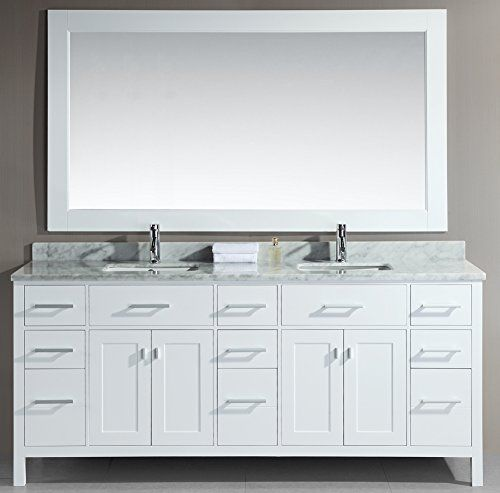 Design Element London Double Bathroom Vanity Set The Melds Elegant Materials With Bold Modern Lines To