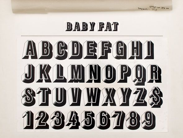 Baby Fat by @Milton Glaser