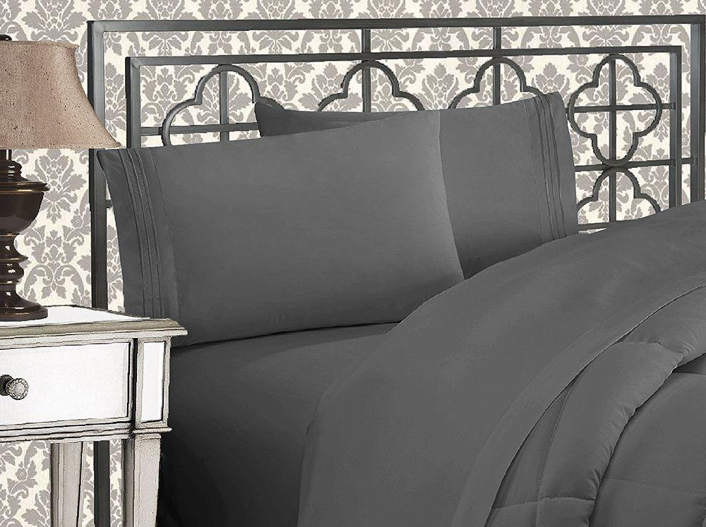 Egyptian Comfort 4 Piece Queen Size Coziest Bed Sheet Set