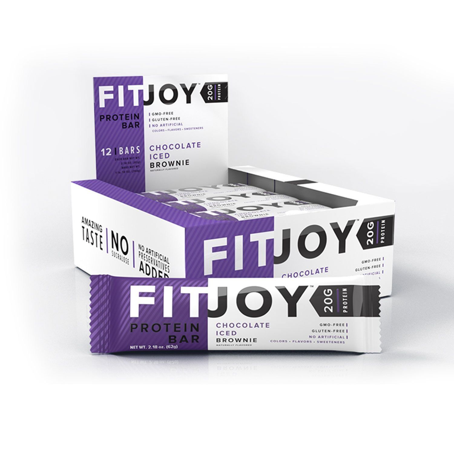 FitJoy Protein Bars Low Carb Low Sugar Gluten Free High