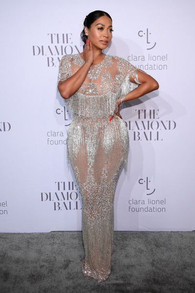 017ba8120ef LaLa Anthony in beautiful Yousef Aljasmi dress at Diamond Ball ...