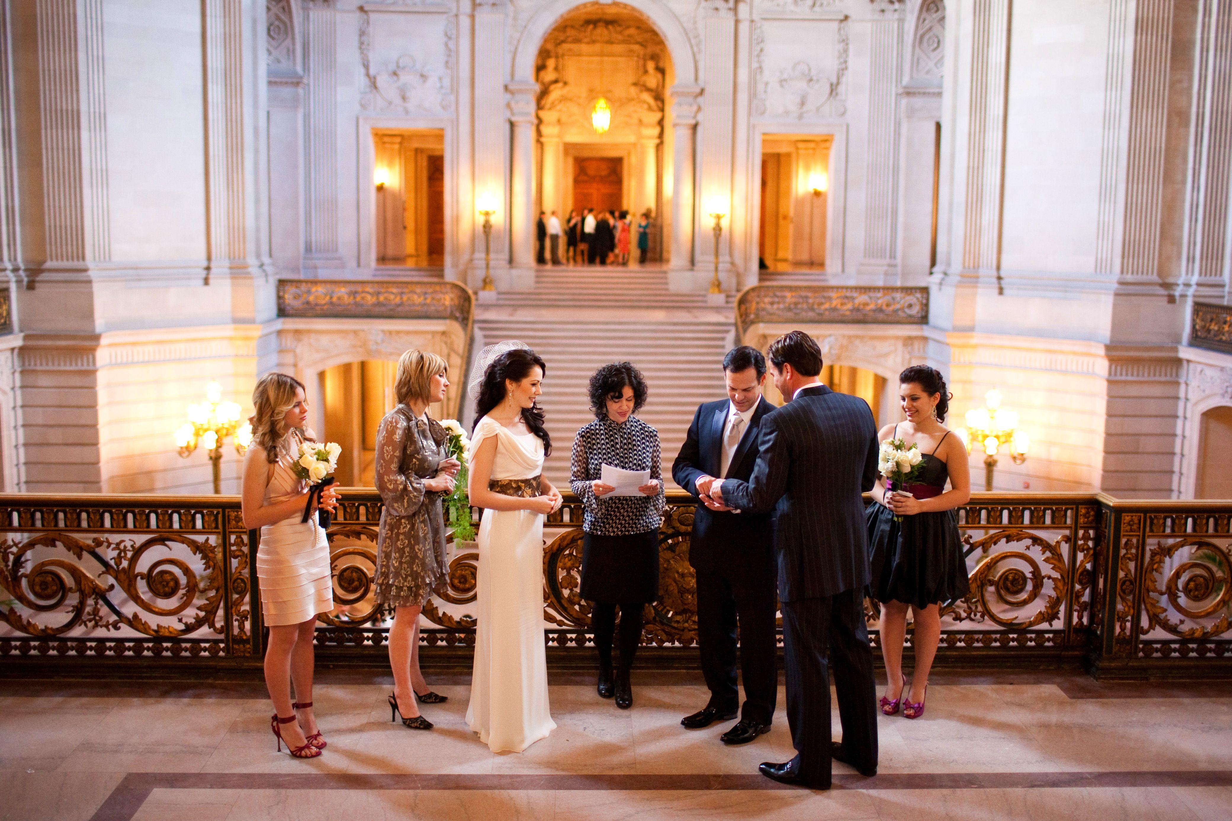 Mayer S Balcony Wedding Ceremony At San Francisco City Hall San Francisco City Hall San Francisco City Hall Wedding Sf City Hall Wedding