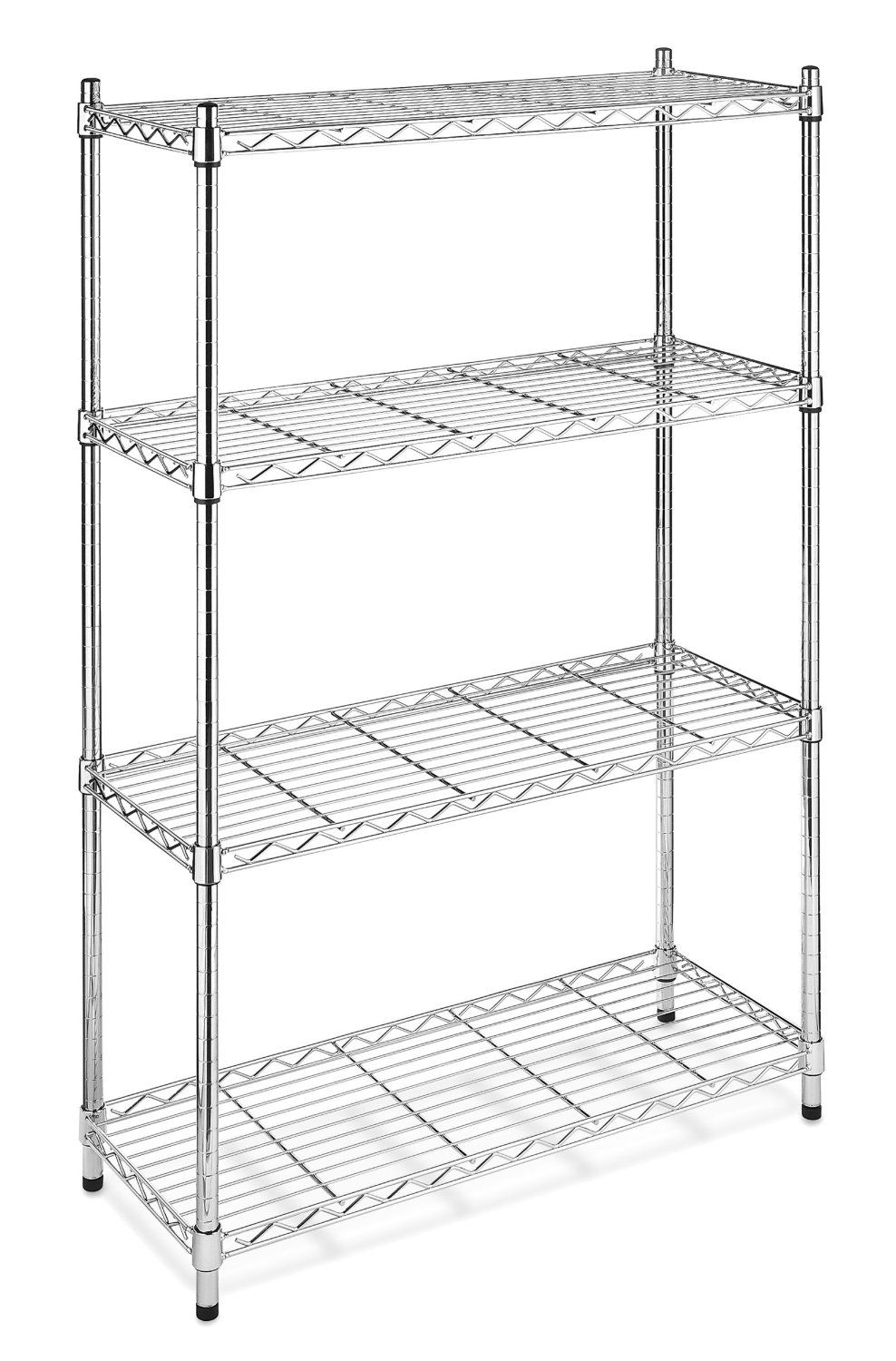 Amazon.com - Whitmor 6060-322 Supreme 4-Tier Shelving Unit, Chrome ...