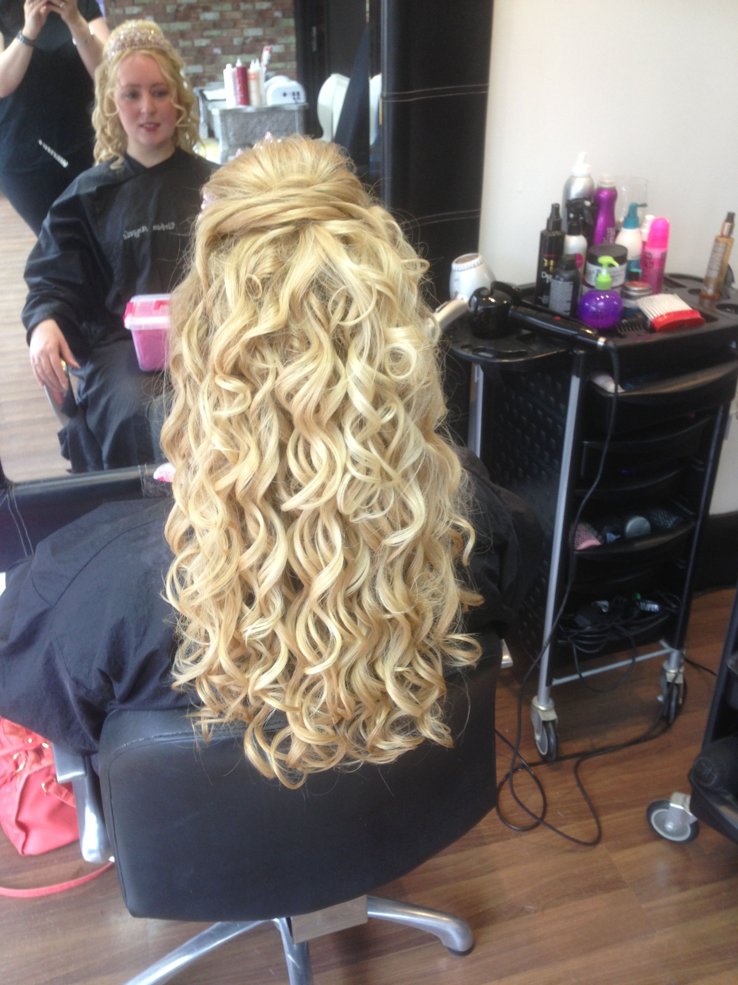 wedding hair #curly #half-up #blonde #wedding | wedding