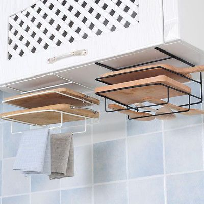 Cutting Board Pot Cover Lid Holder Kitchen Shelf Storage Rack Organizer Tool