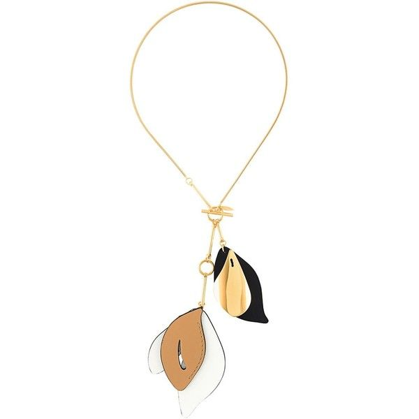 Marni Leather Necklace in Metallics NaYCR6