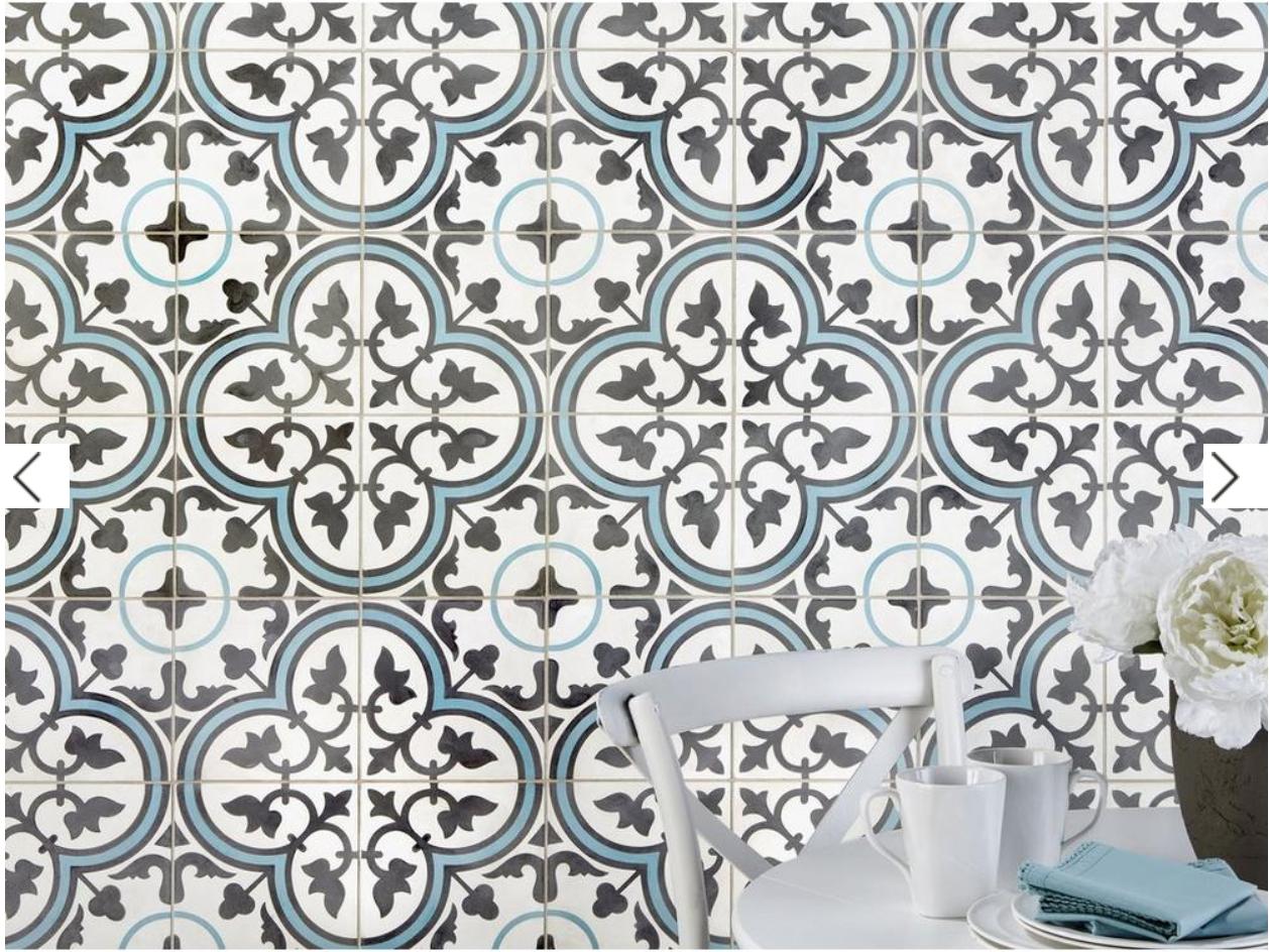Equilibrio Blue Encaustic Cement Tile Encaustic Cement Tile Cement Tile Encaustic Tiles Bathroom