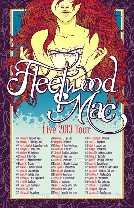Fleetwood Mac Poster By Bethany Sellers On Creativeallies Com Fleetwood Mac Vintage Music Posters
