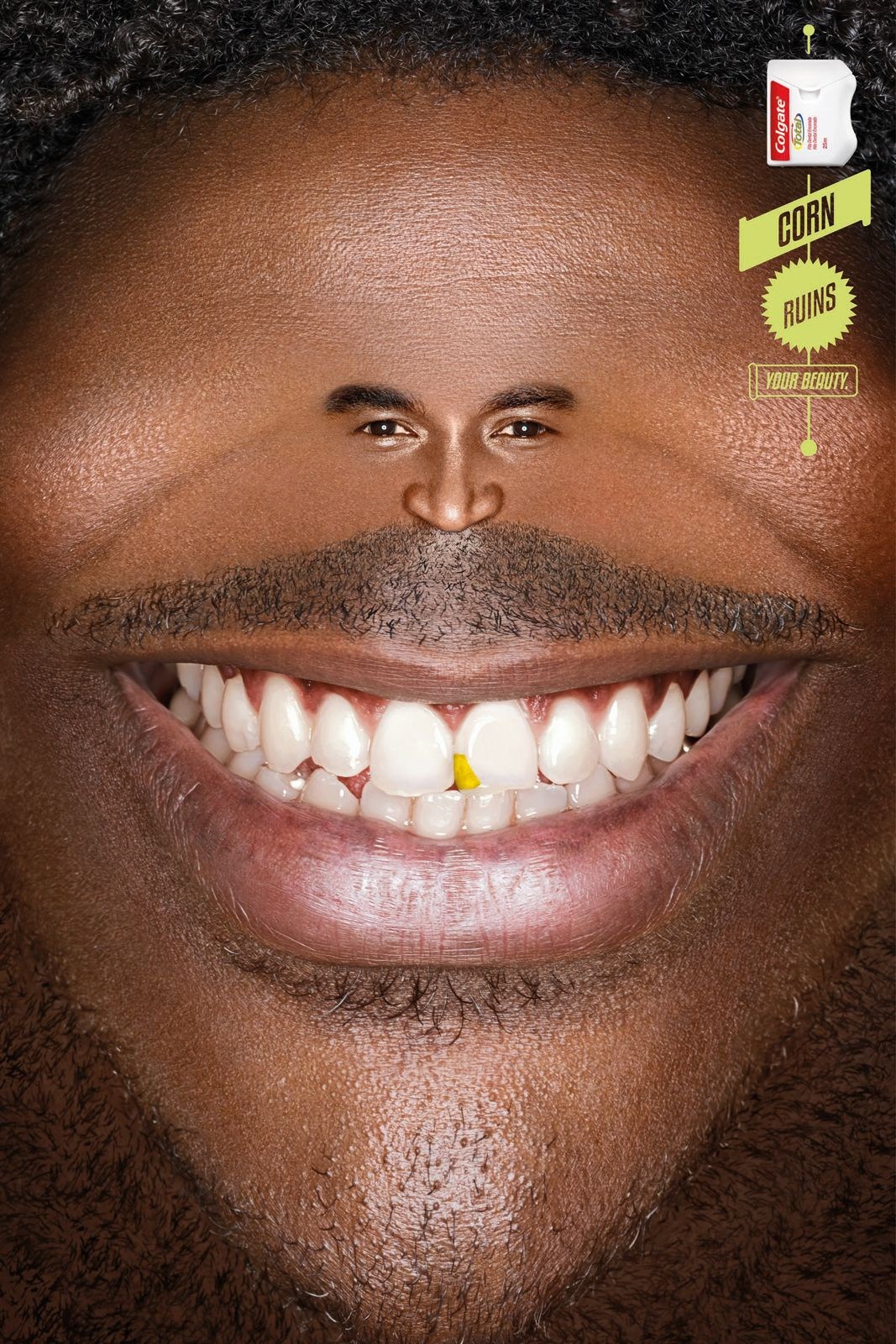 Colgate dental floss smile 1 advertising poster best