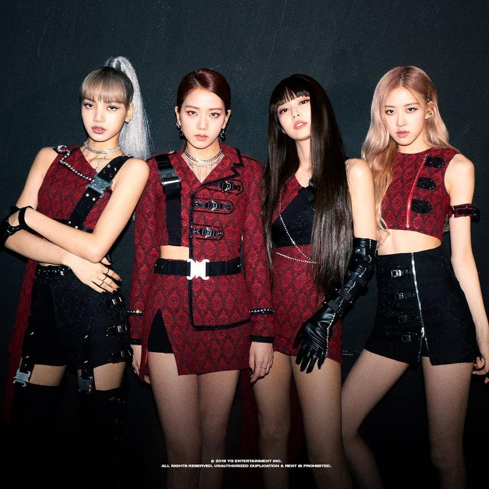 Kill This Love On Instagram I M Living For These Outfits And Makeup Jennie S Bangs Tho Blackpink Fashion Black Pink Black Pink Kpop