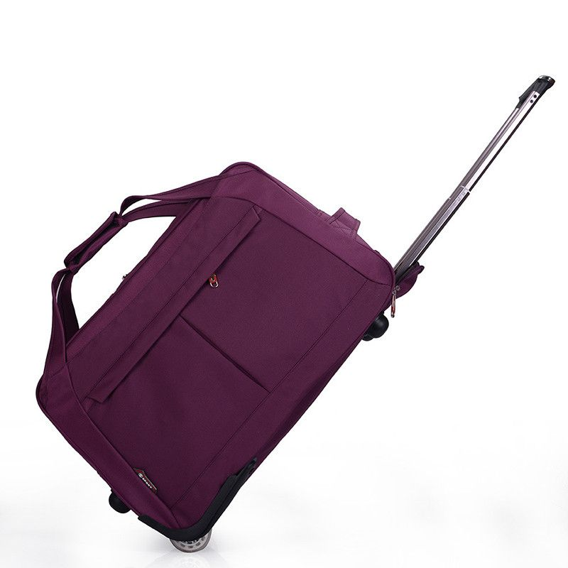 9648f4f3d00d1 Trolley Travel Bag Hand Luggage 20 inch 32L Rolling Duffle Bags Waterproof  Oxford Suitcase Wheels Carry On Luggage Unisex YESO