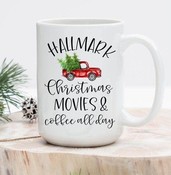 f704d723db9 Hallmark Christmas Movies and Coffee all day mug, Hallmark Mug, Hallmark  Movies, Movie, Christmas mu