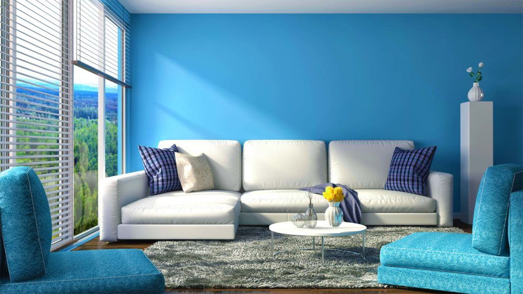 What colors make a room look bigger blue room