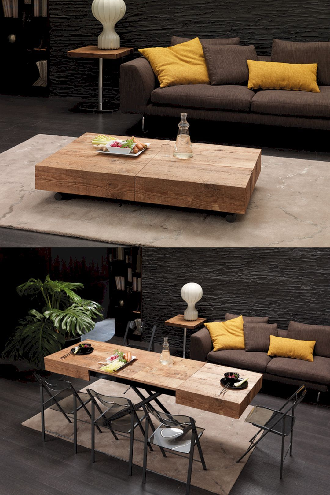 Small Space Convertible Furniture: Space Saving Table Design For A Small Room