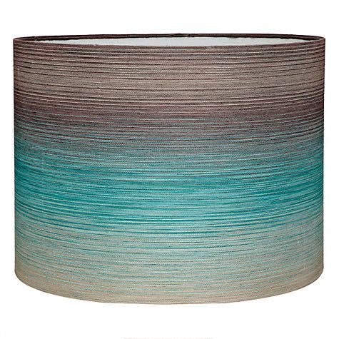Buy harlequin hazan drum shade teal online at johnlewis would chic showcase adding interior decor style with lampshades love chic living aloadofball Image collections