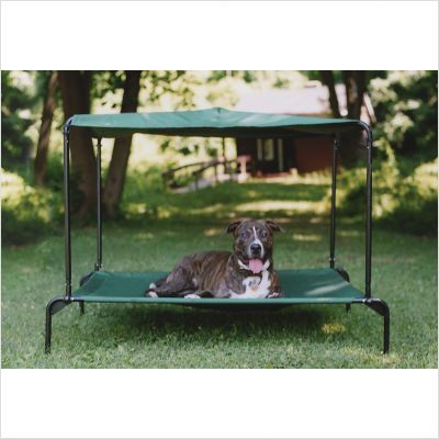 Outdoor dog bed for a large dog