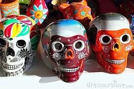 Aztec skulls (Mexican Day of the Dead)