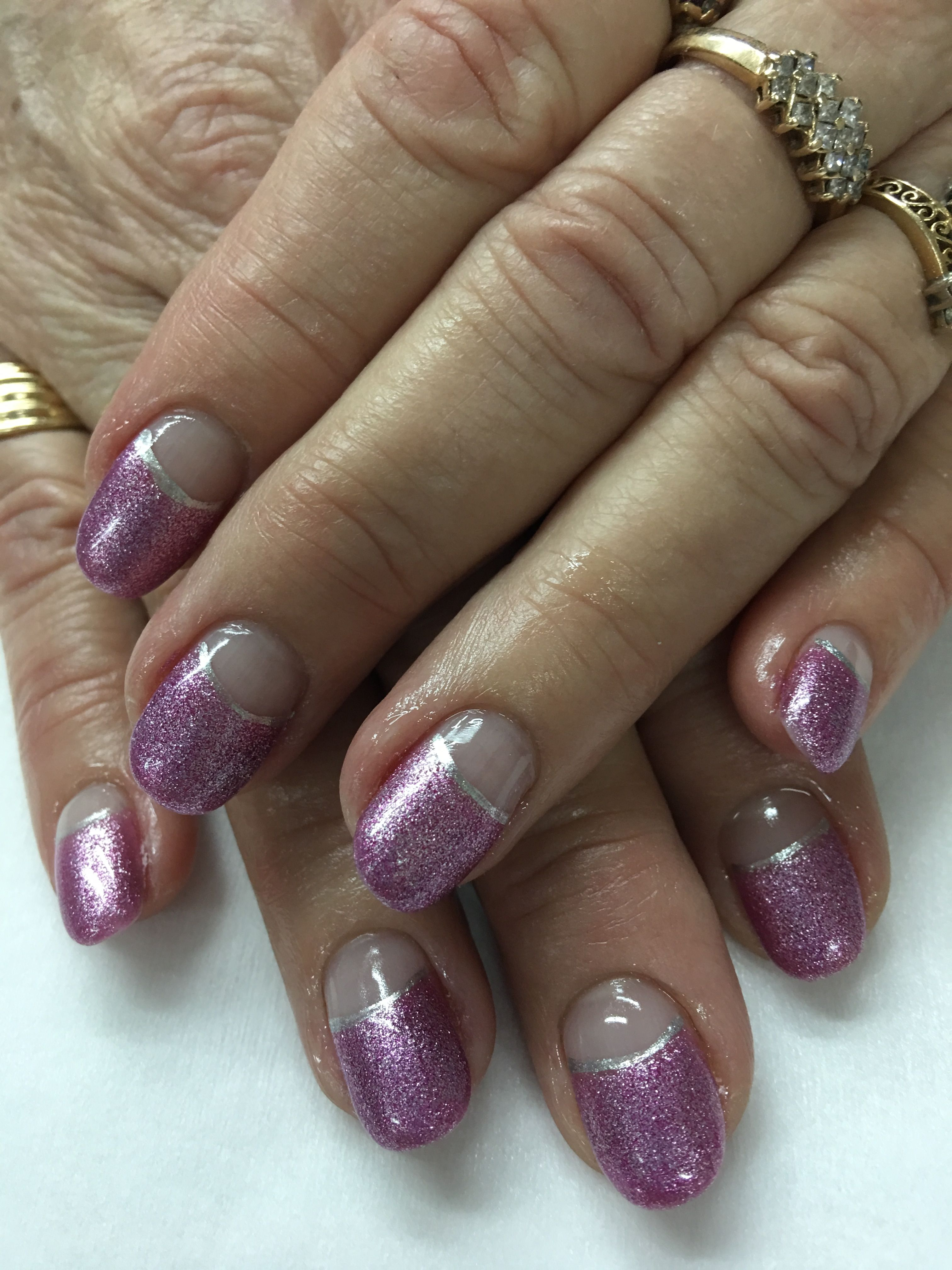 Mauve high French Gel Nails | Gel Nail designs | Pinterest | Manicure