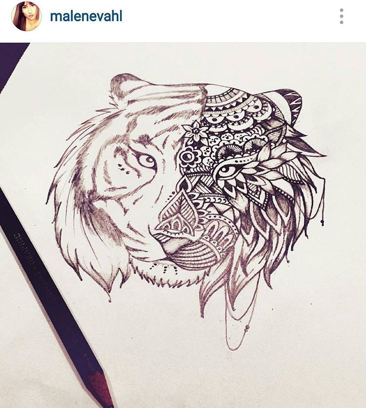Mehndi Tattoo Tiger : Check out malenevahl she has some real skills tiger