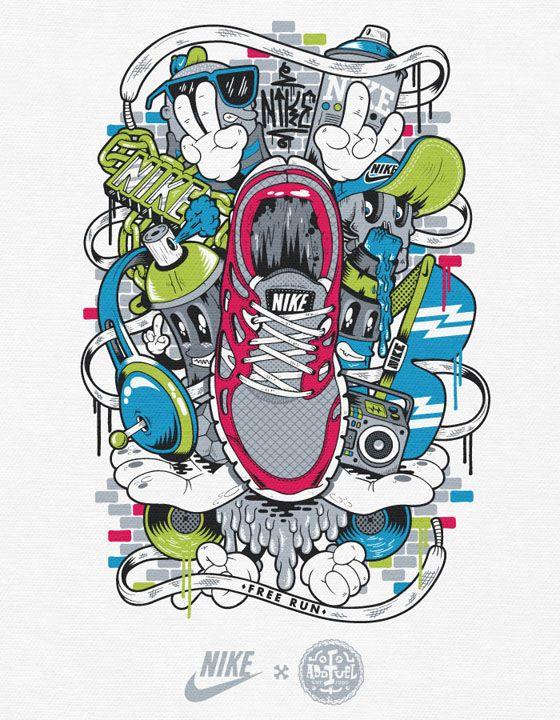 Nike T Shirt Graphics On Behance Graffiti Designs Graffiti Art Sneaker Art