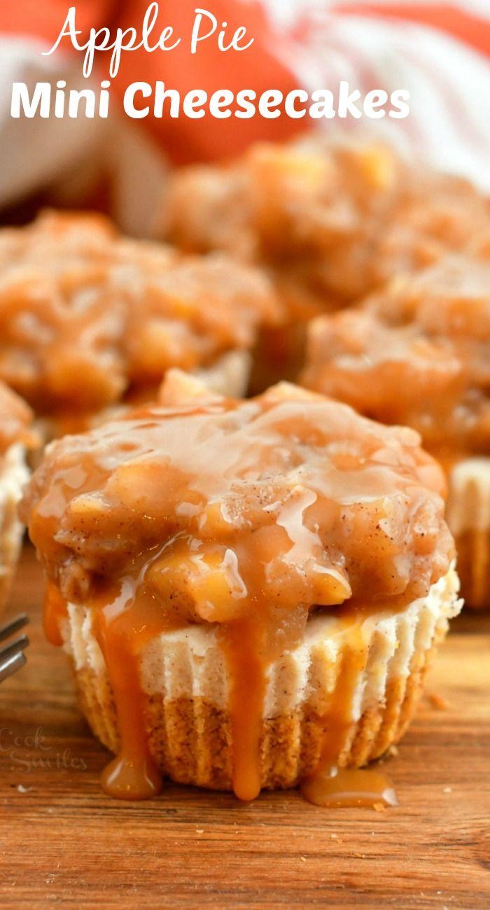 Apple Pie Mini Cheesecakes - Beautiful Fall Holida