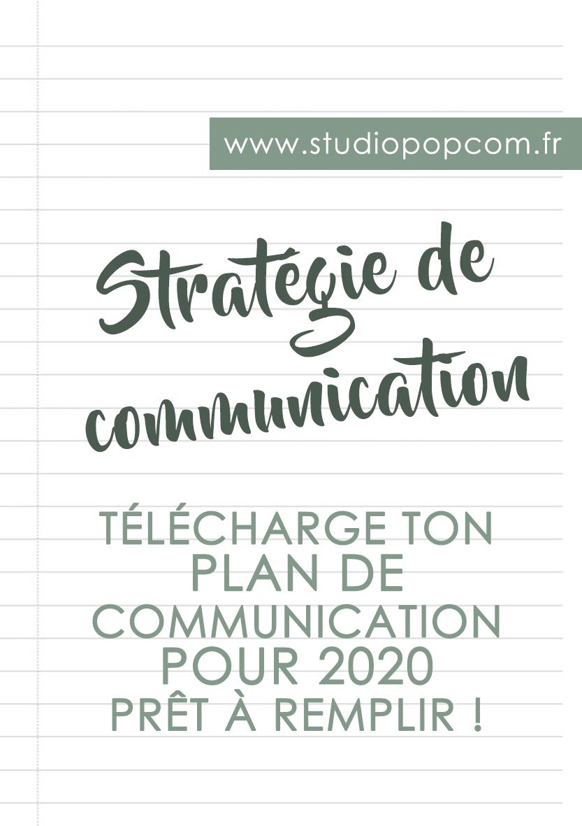 Etablis ta stratégie de communication pour 2020 grâce à