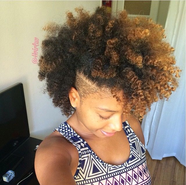 Frohawk With Shaved Sides Curly Hair Styles Natural Hair Styles Short Hair Styles