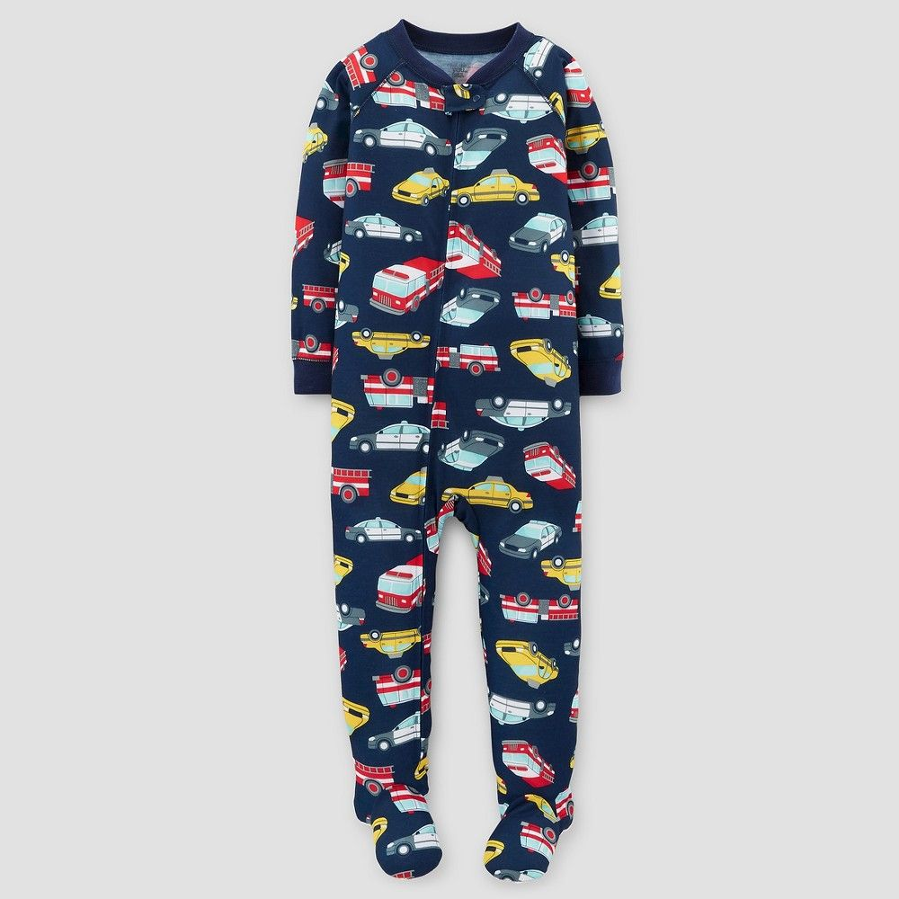 571b51261 Toddler Boys  One-Piece Jersey Pajama Automobiles 5T - Just One You ...