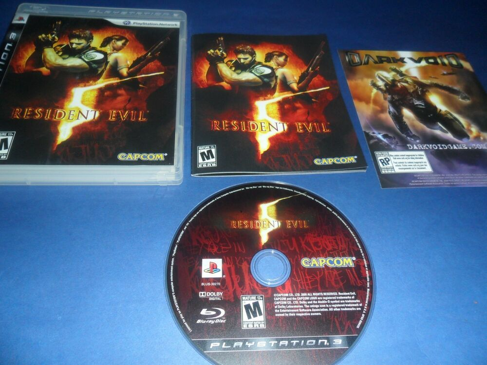 Resident Evil 5 Sony Playstation 3 2009 Ps3 Game Complete Ps4