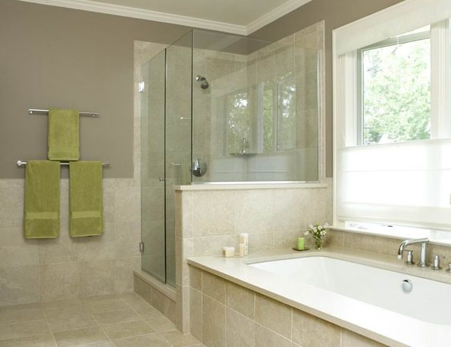 Small Bath With Shower And Tub Clear Tempered Corner Enclosure