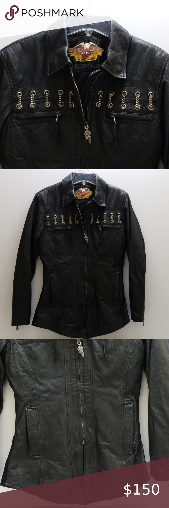 Harley davidson women leather jacket in 2020 Leather