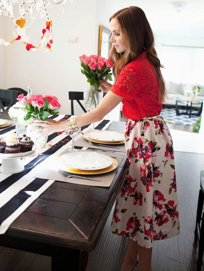 The second Janome Valentine's Day project we are featuring is @merricksart  Floral Midi Skirt that is cute, flirty and festive. Even as a hostess for your Valentine's or Galentine's Day party, you should always feel beautiful! https://goo.gl/PtyNXM