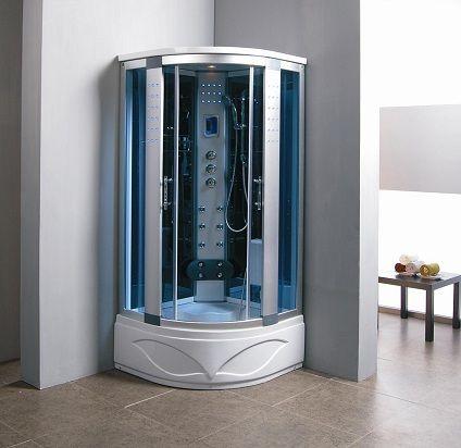 Zen Brand New Comforting Corner Shower Room With Massage Jets