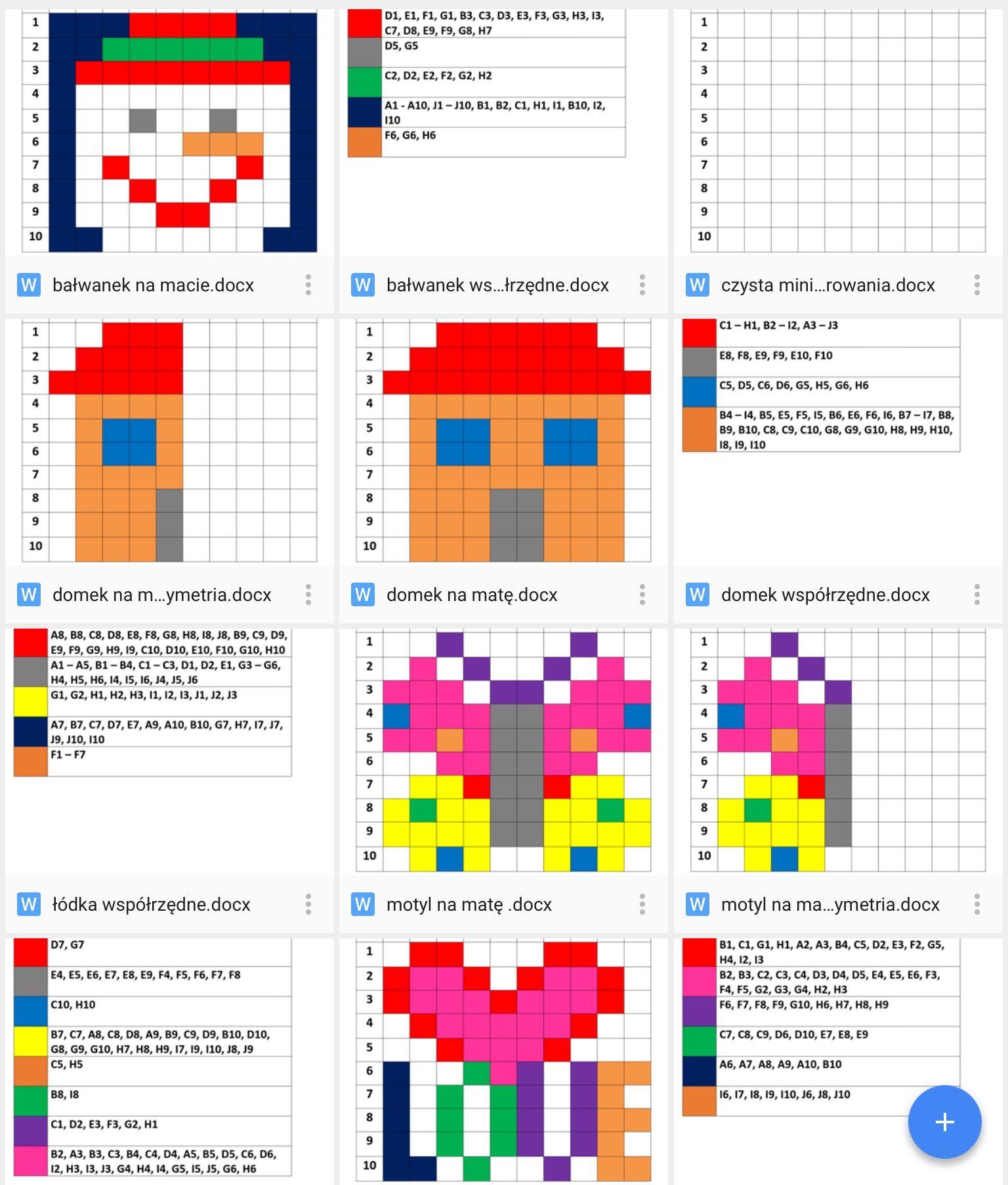Dyktanda Graficzne Zabawa Z Pikselami E Kwadraty Zamieniamy Na Obrazki