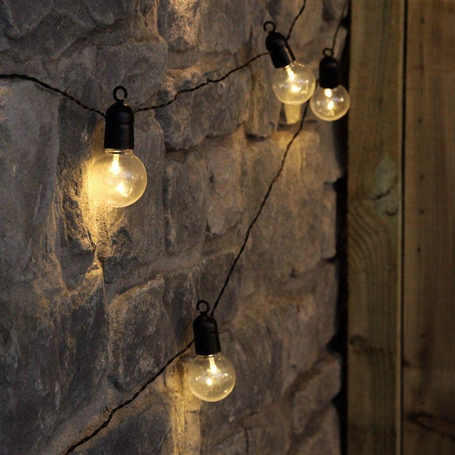 M outdoor battery clear bulb festoon lights warm white leds